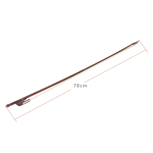 High-class Baroque Style Snakewood 4/4 Violin Fiddle Bow Horsehair Round Stick Outward Camber