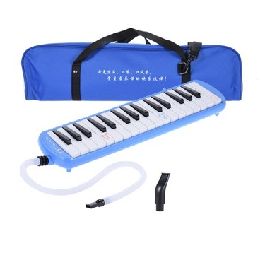 QIMEI QM32A-8 32 Piano Style Keys Melodica Musical Education Instrument for Beginner Kids Children Gift with Carrying Bag Pink