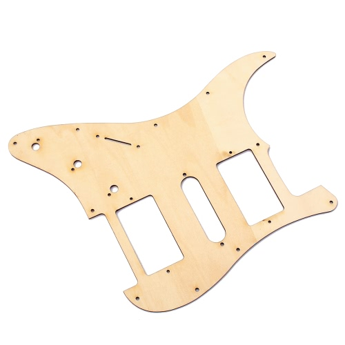 HSH Wooden Guitar Pickguard Maple Wood with Decorative Flower Pattern for Fender ST Electric Guitars