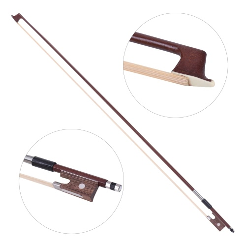 ammoon Full Size 4/4 Solid Wood Electric Silent Violin Fiddle Style-3 Ebony Fingerboard Pegs Chin Rest Tailpiece with Bow Hard Case Tuner Headphones Rosin Extra Strings & Bridge