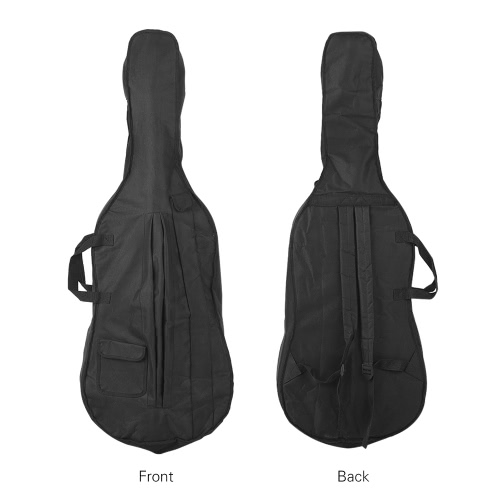 Portable 4/4 & 3/4 Cello Gig Carrying Bag Case Backpack Adjustable Shoulder Strap Black