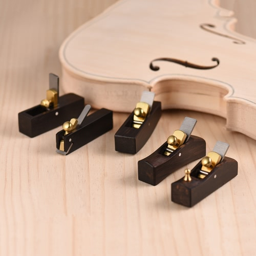 Woodworking Plane Cutter Ebony Luthier Tool Set for Violin Viola Cello Wooden Instrument