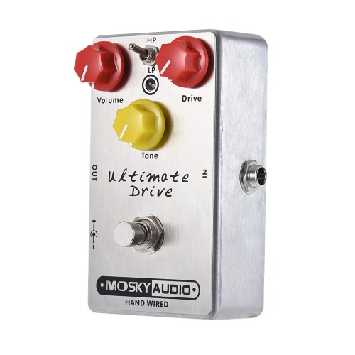 MOSKY Ultimate Drive Overdrive Guitar Effect Pedal Full Metal Shell True Bypass