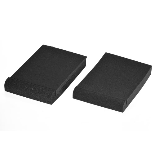 2 Pack Studio Monitor Speaker Isolation Acoustic Foam Pads Max. 9.6″ * 7.7″ Usable Area