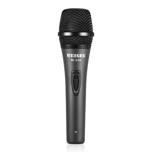 Professional Dynamic Moving-coil Vocal Handheld Microphone Cardioid with 16ft XLR-to-1/4″ Detachable Cable for Karaoke Stage Home Studio Recording