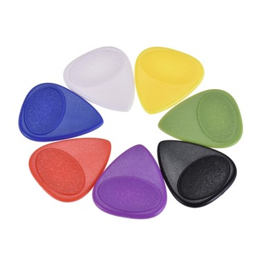 50pcs 0.75mm Guitar Picks Celluloid Picks Color Mixed with Storage Box for Acoustic Folk Classic Electric Guitars Bass
