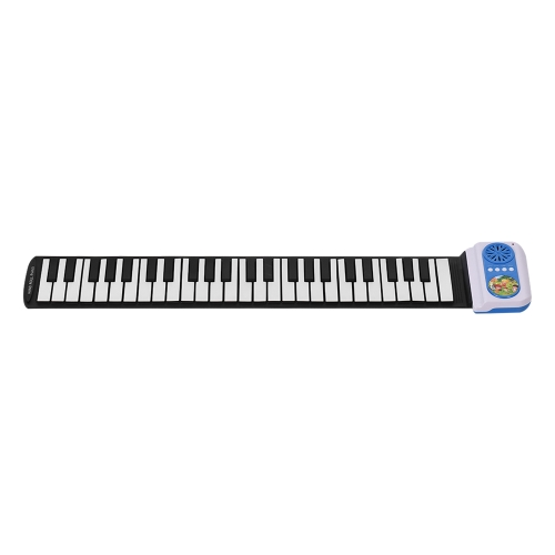Portable 49 Keys Silicon Electronic Keyboard Hand Roll Up Piano for Children Kids