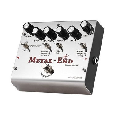 BIYANG METAL-END King High Gain Distortion Effect Pedal Built-in Amplifier Simulator EQ With True Bypass Full Metal Shell