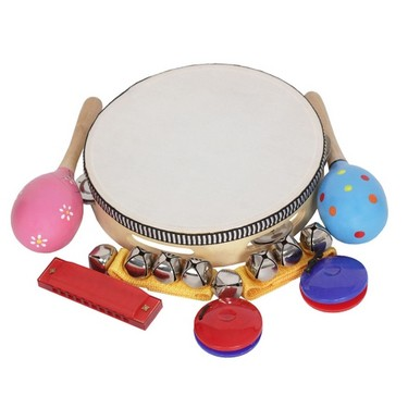 8pcs/set Musical Toys Percussion Instruments Band Rhythm Kit for Kids Children Toddlers
