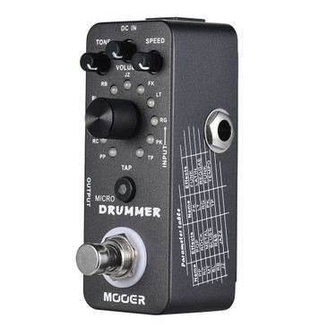 MOOER MICRO DRUMMER Digital Drum Machine Guitar Effect Pedal With Tap Tempo Function True Bypass Full Metal Shell