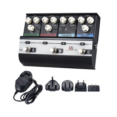 BIYANG LiveMaster Series LM-4 Mainframe Unit Fashionable Style Set with 4 Guitar Effect Pedals