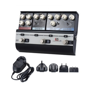 BIYANG LiveMaster Series LM-4 Mainframe Unit Blues Style Set with 3 Guitar Effect Pedals