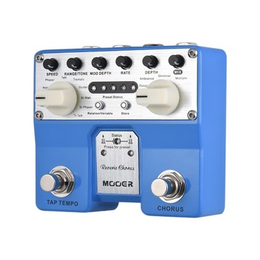 MOOER Reverie Chorus Guitar Effect Pedal 5 Chorus Modes 8 Enhancing Effects Tap Tempo Function with Dual Footswitches
