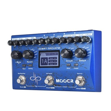 MOOER OCEAN MACHINE Multi-effects Pedal 15 Types of Delay Effects 9 Reverb Effects 44s Recording Time Tap Temp