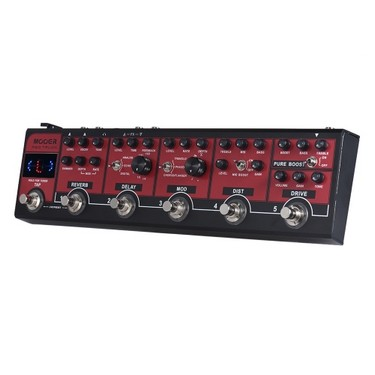 MOOER RED TRUCK 6-in-1 Combined Effect Pedal Boost + Overdrive + Distortion + Modulation + Delay + Reverb Built-in Tuner Tap Tempo with Carry Case