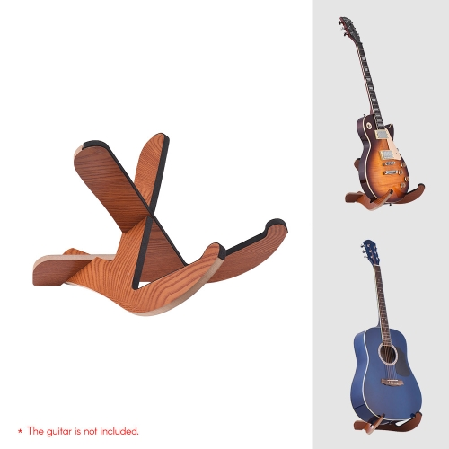 Floor Type Wooden Guitar Stand Holder Musical Instrument Bracket Portable Removable Frame for Electric Acoustic Guitars Bass Storage Display
