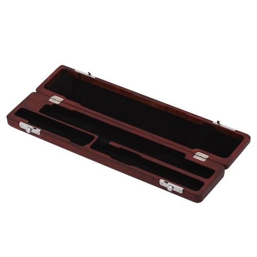 Wooden Flute Case Box Holder Maple Solid Wood for 17-Hole Flutes