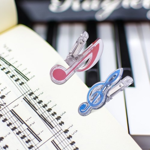 Music Clip Piano Book Page Clip Treble Clef Clips Bookmarks Accessories 5 Pack