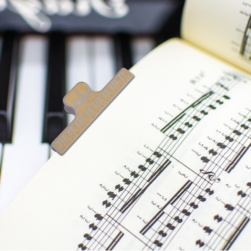 Music Clip Book Page Clip Piano Page Holder Yellow Bookmarks Accessories 4 Pack