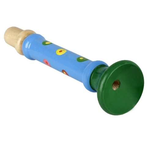 Wooden Horn Hooter Trumpet Musical Instrument Toy for Kids Children Early Education Music Tool