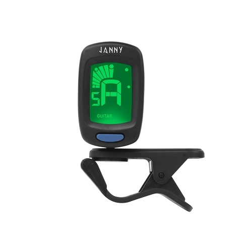 Compact Size Clip-On Tuner LCD Display for Guitar Chromatic Bass Ukulele Violin
