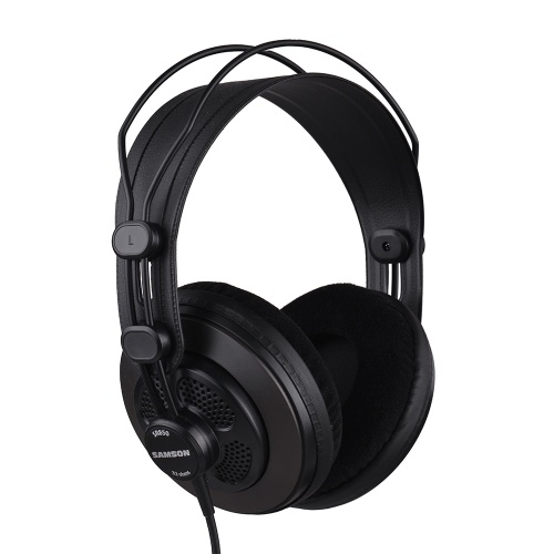 SAMSON SR850 Professional Studio Reference Monitor Headphones Dynamic Headset Semi-open Design for Recording Monitoring Music Appreciation Game Playing DJ