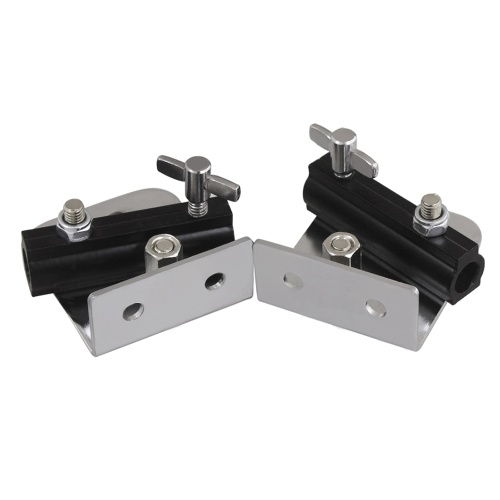 Bass Drum Strap Bracket Holder Support Mounting Adapter Metal Material, 2pcs/ Pack