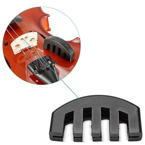 Rubber 4/4 Violin Mute Practice Mute Fiddle Silencer with 5 Prongs
