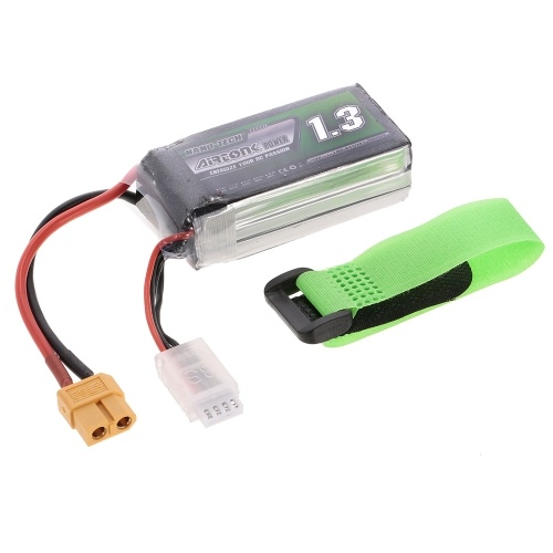 11.1V 1300mAh 30C 3S Rechargeable Li-Po Battery with XT60 Plug for RC Racing Drone Quadcopter Helicopter Airplane Car Truck