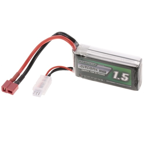 7.4V 1500mAh 30C 2S Rechargeable Li-Po Battery with T Plug for RC Racing Drone Quadcopter Helicopter Airplane Car Truck