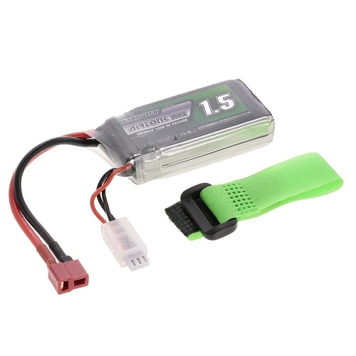 7.4V 1500mAh 60C 2S Rechargeable Li-Po Battery with T Plug for RC Racing Drone Quadcopter Helicopter Airplane Car Truck