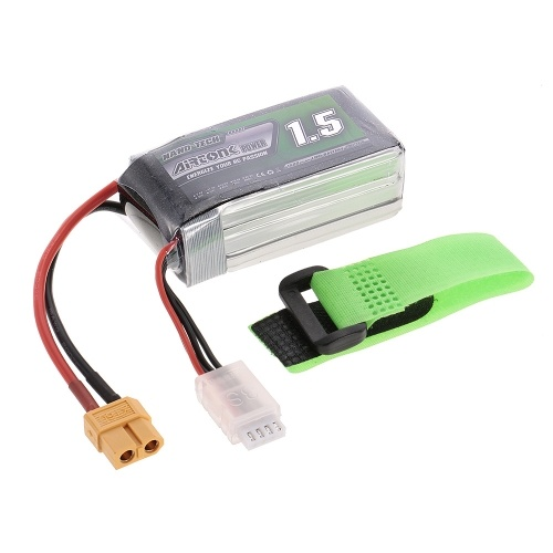 11.1V 1500mAh 60C 3S Rechargeable Li-Po Battery with XT60 Plug for RC Racing Drone Quadcopter Helicopter Airplane Car Truck
