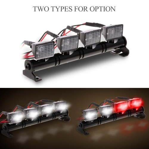 RC Car Square LED Light & Cover for 1/10 RC Crawler Axial SCX10 D90 110 Traxxas TRX-4 Tamiya HSP RC Car Parts