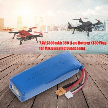 7.4V 2300mAh 35C Li-po Battery XT30 Plug for MJX B6 B8 RC Drone Quadcopter