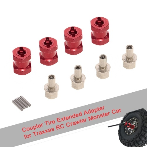 4pcs 12mm Hex 15mm Coupler Tire Extended Adapter for Traxxas Hsp Redcat Rc4wd Tamiya Axial scx10 D90 Hpi RC Crawler Monster Car