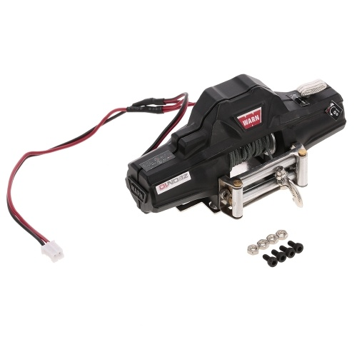 Warn Double Motors Winch w/ Remote Controller Receiver for 1/10 Traxxas HSP Redcat RC4WD Tamiya Axial SCX10 D91 HPI RC Crawler Car