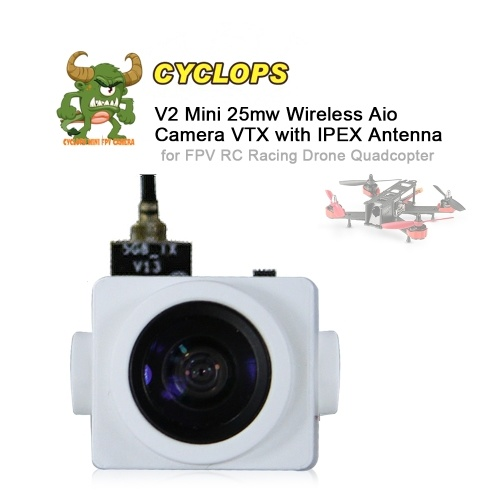 Turbowing CYCLOPS V2 5.8G 48CH 25MW 700TVL Mini AIO 120° Wide Angle Camera VTX with IPEX Antenna for FPV RC Racing Drone Quadcopter