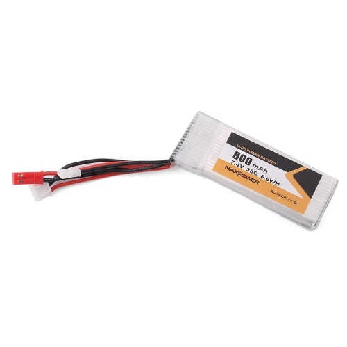 7.4V 900mAh 30C 2S Li-Po Battery JST XH2.0 Plug for X520 RC Airplane 130 180 RC Racing Drone Quadcopter