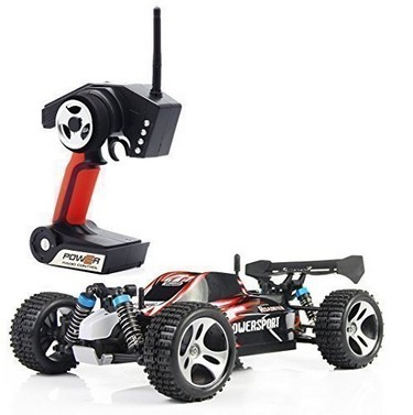 Wltoys A959 1/18 1:18 Scale 2.4G 4WD RTR Off-Road Buggy RC Car – Red