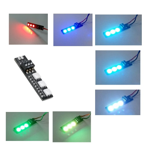 DIY RGB 5050 LED Board 5V Light Board 7 Color For RC Cars FPV Helicopter Multi-axis
