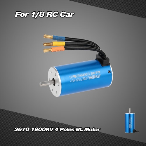 3670 1900KV 4 Poles Sensorless Brushless Motor for 1/8 RC Car