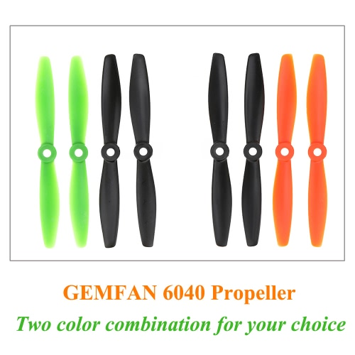 2 Pairs GEMFAN 6040 CW/CCW Propellers for QAV250 280 F330 RC Quadcopter