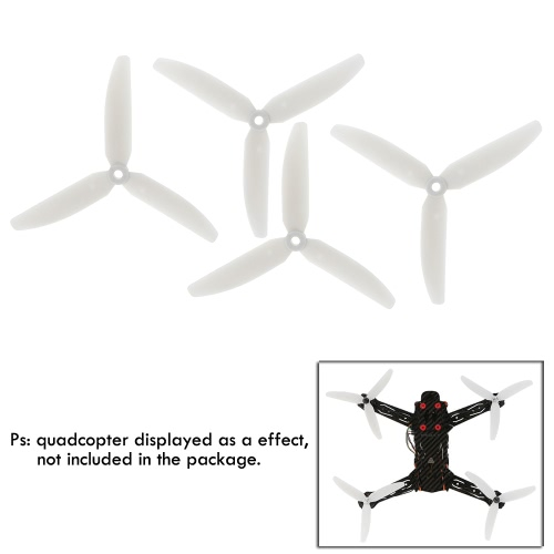 4 Pairs Original RC Part Gemfan 5030 Fluorescent Three-blade Propellers for H250 H280 QAV250 Racer250 TL250H RC Quadcopter