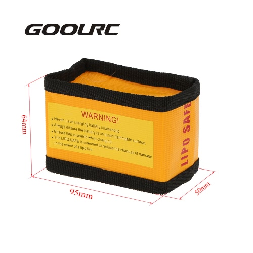 GoolRC 9.5 * 6.4 * 5cm Golden High Quality Glass Fiber RC LiPo Battery Safety Bag Safe Guard Charge Sack
