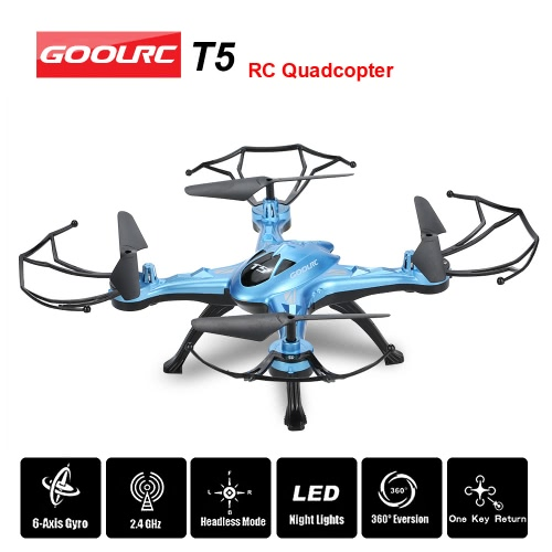 GoolRC T5 2.4GHz 4CH 6-axis Gyro RC Quadcopter with One Key Return CF Mode 360° Eversion Function