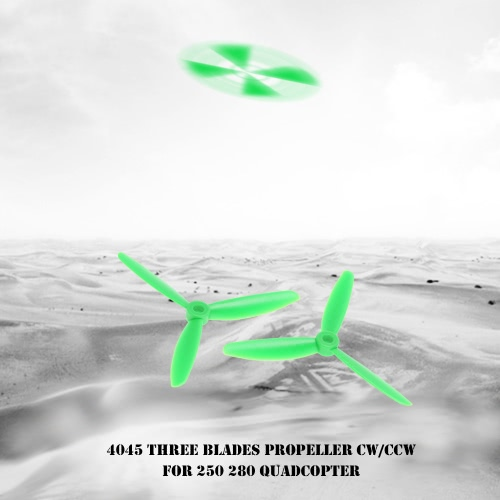 4 Pair 4045 Three Blades Propeller CW/CCW Props for 250 280 RC Quadcopter