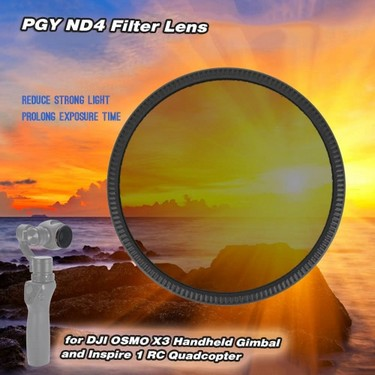 PGY ND4 Filter Lens for DJI OSMO X3 Handheld Gimbal and Inspire 1 RC Quadcopter