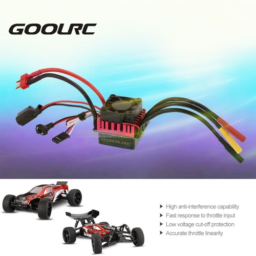 Original GoolRC S-45A Brushless ESC Electric Speed Controller with 5.8V/3A BEC for 1/10 RC Car