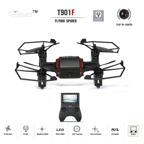 GTeng T901F Flying Spider 5.8G FPV RC Quadcopter with 720P HD Camera