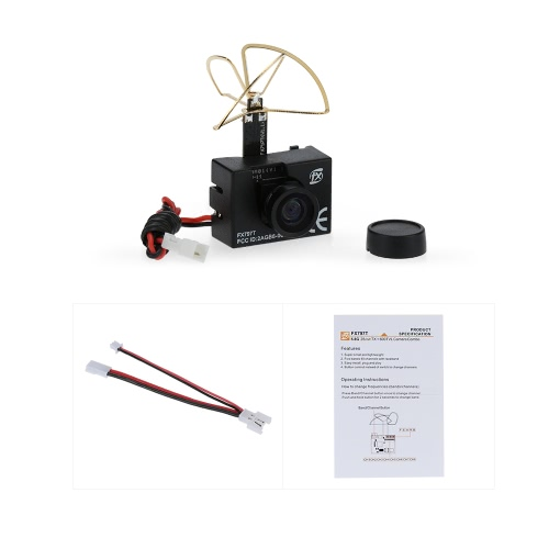 Original FX FX797T 5.8G 25mW 40CH Mini Transmitter with 600TVL NTSC Camera Combo Set for FPV RC Quadcopter